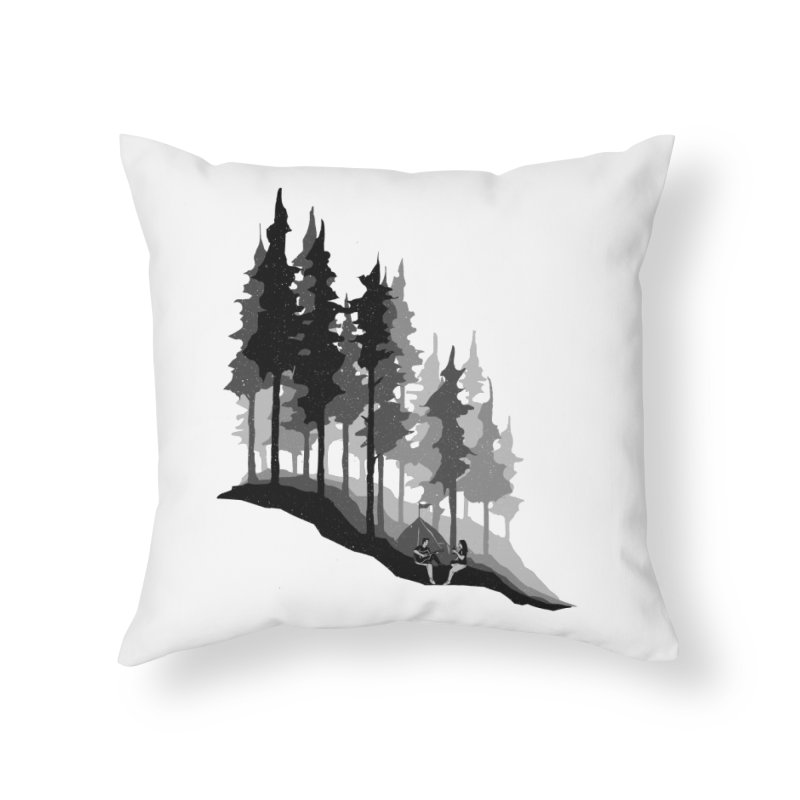 Romantic Camping Home Throw Pillow by barmalisiRTB