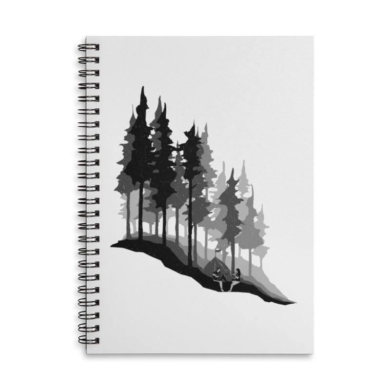 Romantic Camping Accessories Lined Spiral Notebook by barmalisiRTB