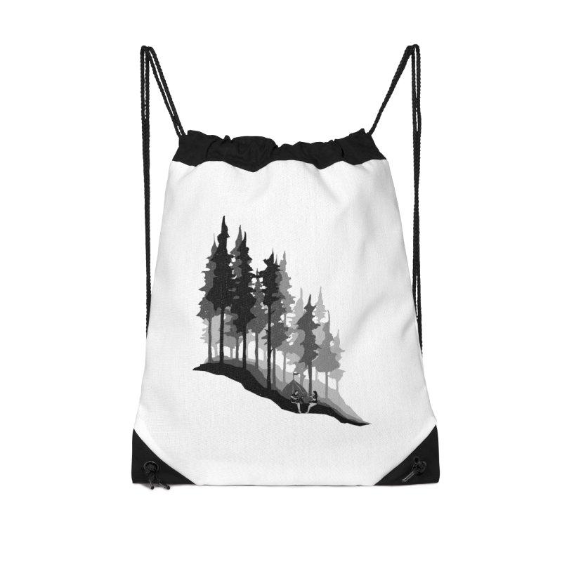 Romantic Camping Accessories Drawstring Bag Bag by barmalisiRTB