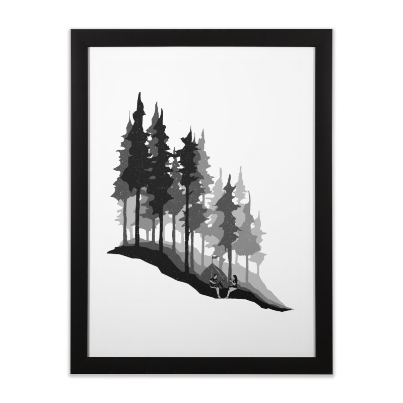 Romantic Camping Home Framed Fine Art Print by barmalisiRTB