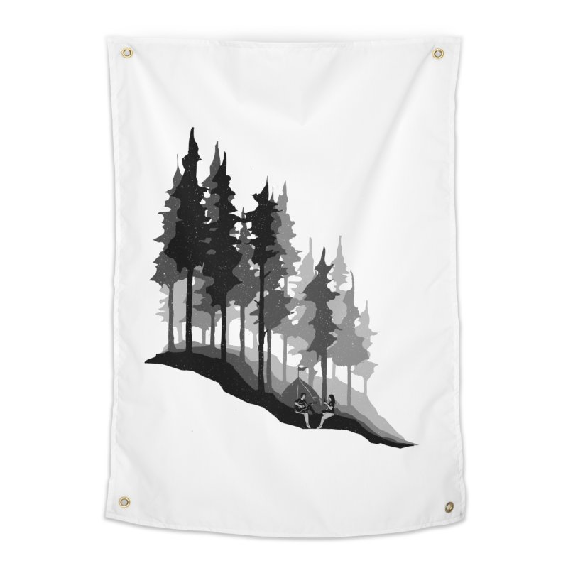 Romantic Camping Home Tapestry by barmalisiRTB