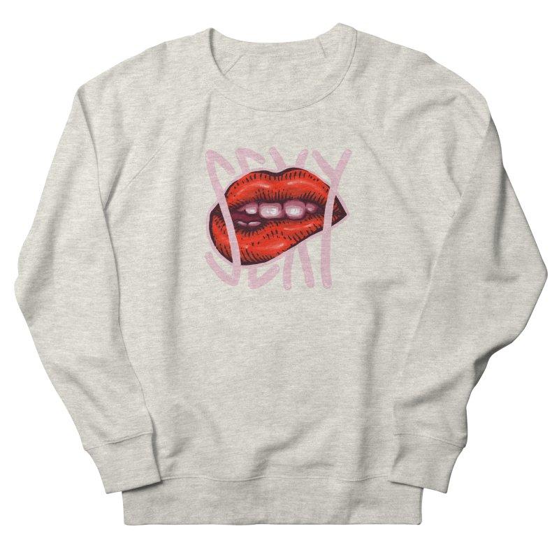 Sexy Lips Men's French Terry Sweatshirt by barmalisiRTB