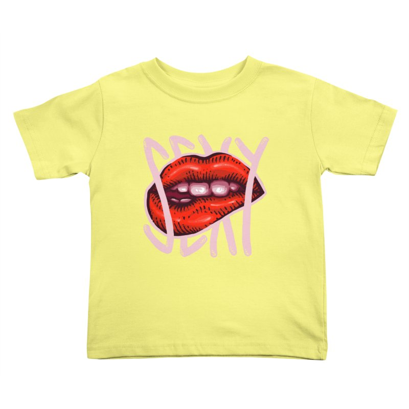 Sexy Lips Kids Toddler T-Shirt by barmalisiRTB