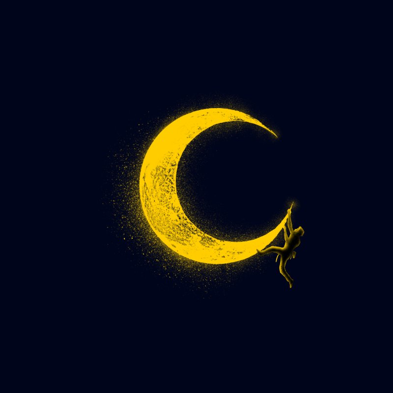 Climbing Moon by barmalisiRTB