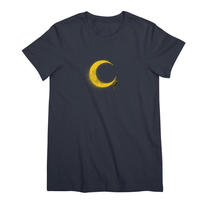 Climbing Moon Women's Premium T-Shirt by barmalisiRTB
