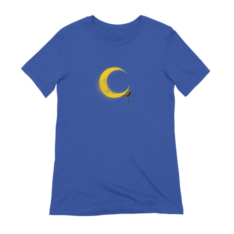 Climbing Moon Women's Extra Soft T-Shirt by barmalisiRTB