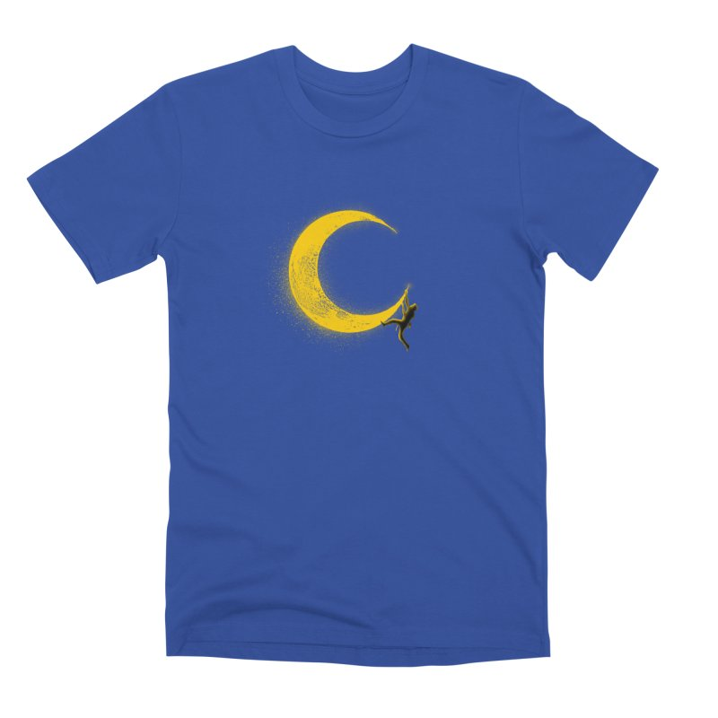 Climbing Moon Men's Premium T-Shirt by barmalisiRTB