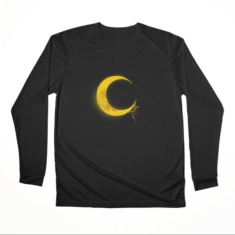 Climbing Moon Men's Performance Longsleeve T-Shirt by barmalisiRTB
