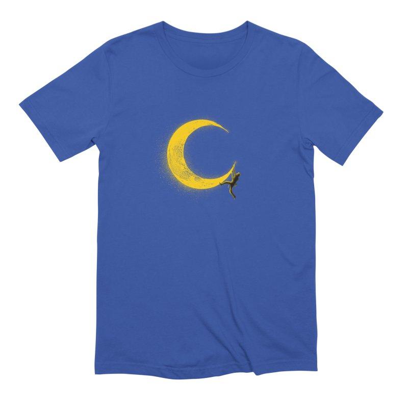 Climbing Moon Men's Extra Soft T-Shirt by barmalisiRTB