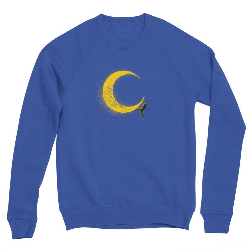 Climbing Moon Men's Sponge Fleece Sweatshirt by barmalisiRTB