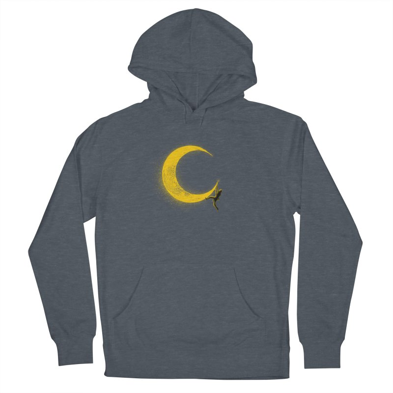 Climbing Moon Women's French Terry Pullover Hoody by barmalisiRTB
