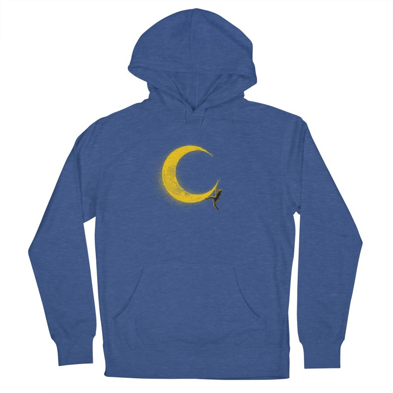 Climbing Moon Men's French Terry Pullover Hoody by barmalisiRTB