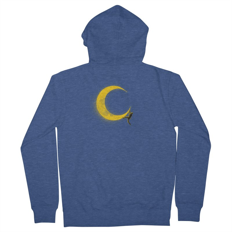 Climbing Moon Men's French Terry Zip-Up Hoody by barmalisiRTB