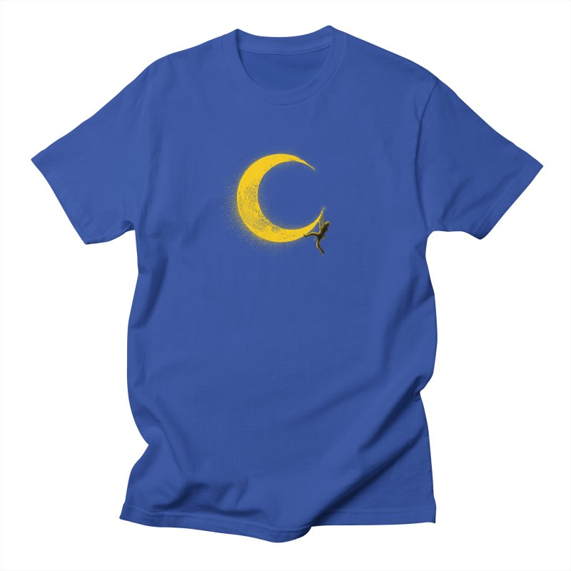 Climbing Moon Men's Regular T-Shirt by barmalisiRTB