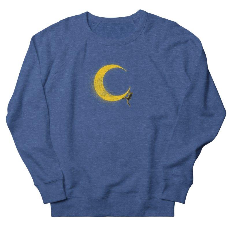 Climbing Moon Women's French Terry Sweatshirt by barmalisiRTB