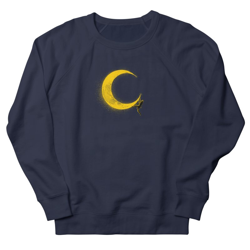 Climbing Moon Men's French Terry Sweatshirt by barmalisiRTB