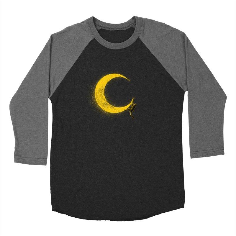Climbing Moon Men's Baseball Triblend Longsleeve T-Shirt by barmalisiRTB