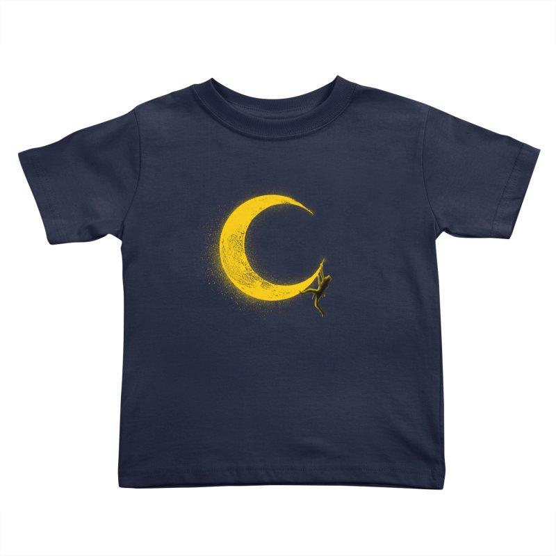 Climbing Moon Kids Toddler T-Shirt by barmalisiRTB
