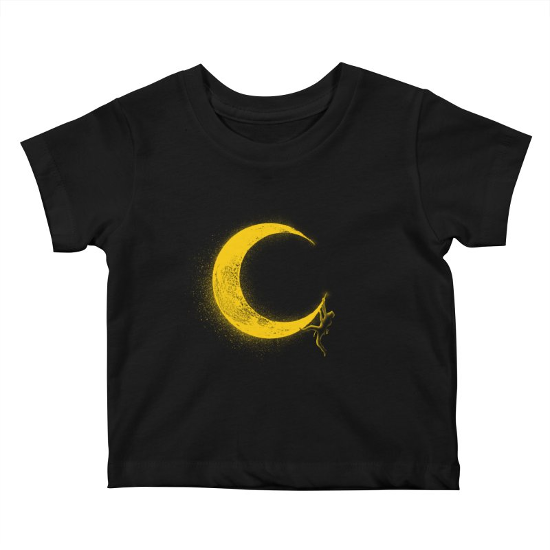 Climbing Moon Kids Baby T-Shirt by barmalisiRTB