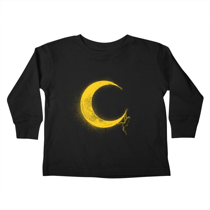 Climbing Moon Kids Toddler Longsleeve T-Shirt by barmalisiRTB