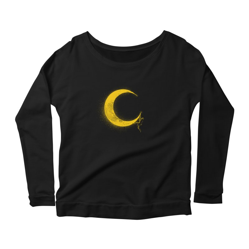 Climbing Moon Women's Scoop Neck Longsleeve T-Shirt by barmalisiRTB