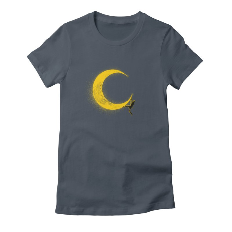 Climbing Moon Women's Fitted T-Shirt by barmalisiRTB