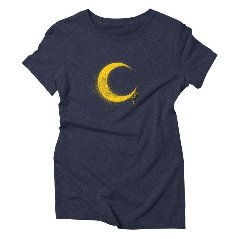 Climbing Moon Women's Triblend T-Shirt by barmalisiRTB