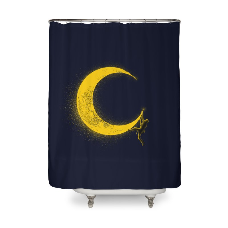 Climbing Moon Home Shower Curtain by barmalisiRTB