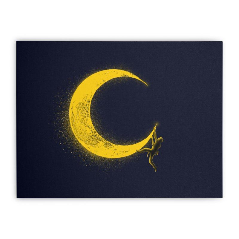 Climbing Moon Home Stretched Canvas by barmalisiRTB