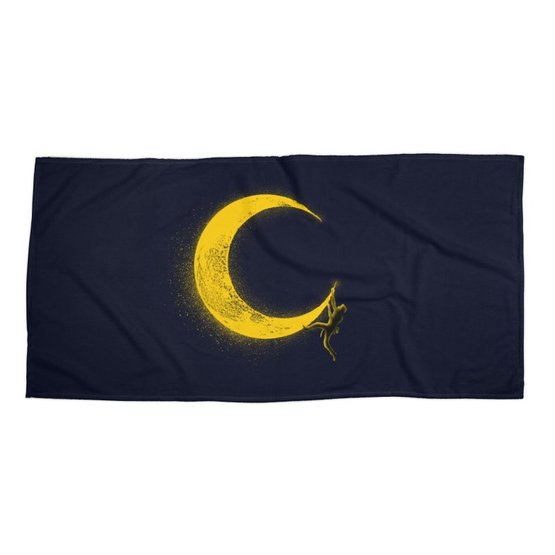 Climbing Moon Accessories Beach Towel by barmalisiRTB