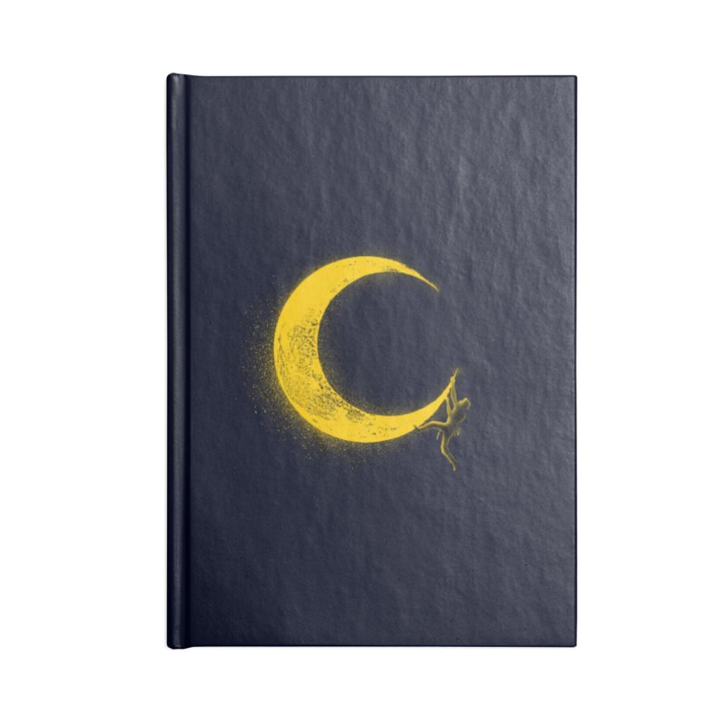 Climbing Moon Accessories Lined Journal Notebook by barmalisiRTB