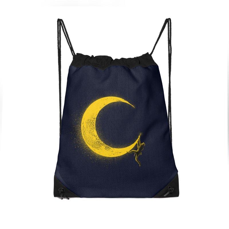 Climbing Moon Accessories Drawstring Bag Bag by barmalisiRTB