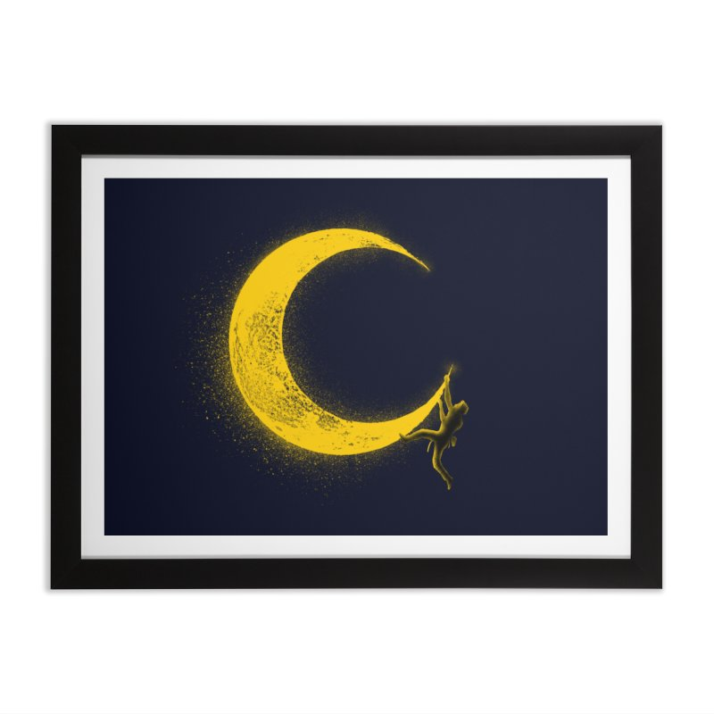 Climbing Moon Home Framed Fine Art Print by barmalisiRTB