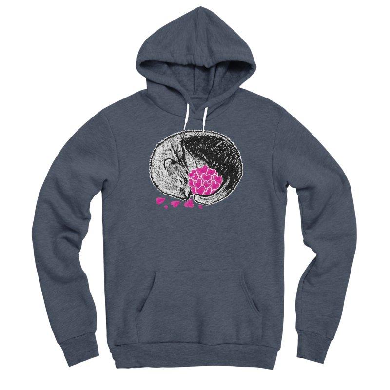 Ferret love Men's Sponge Fleece Pullover Hoody by barmalisiRTB