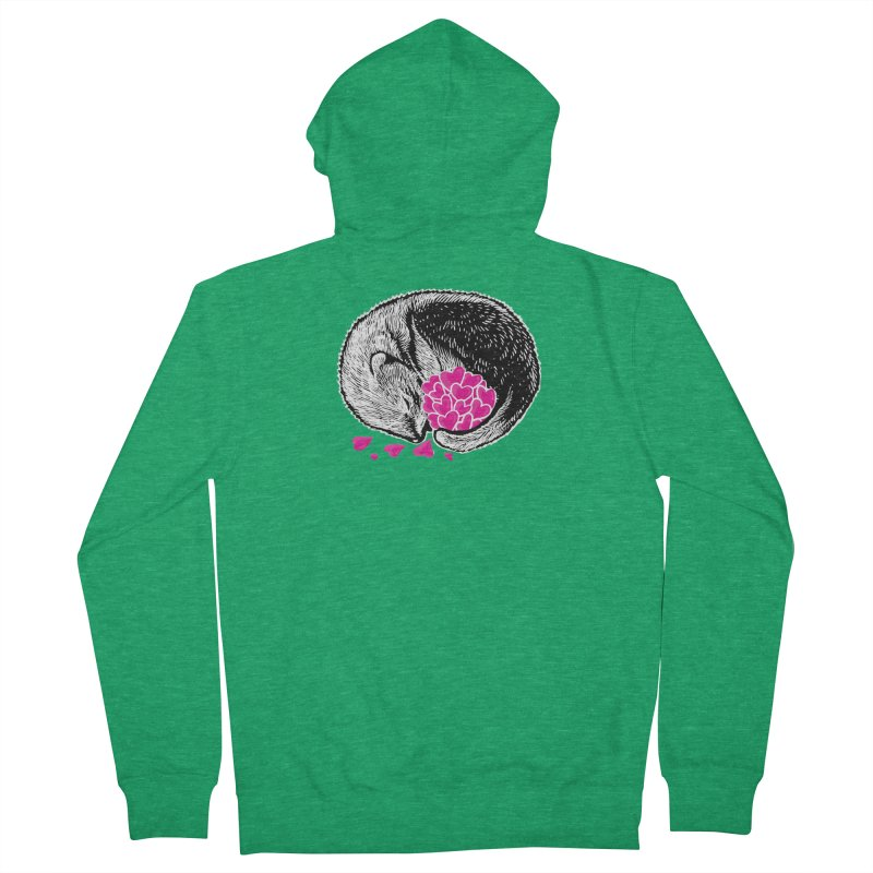 Ferret love Men's French Terry Zip-Up Hoody by barmalisiRTB