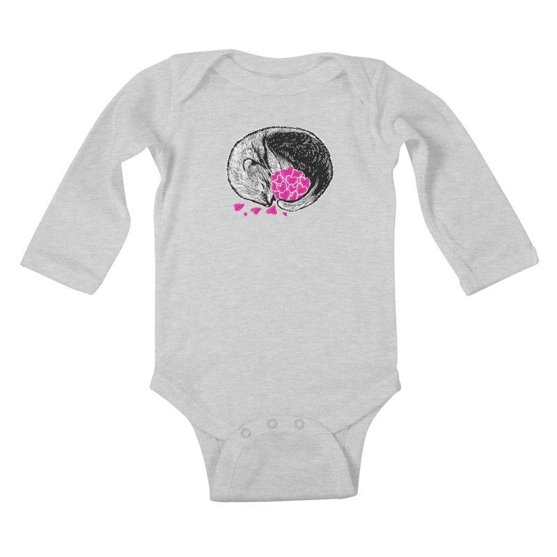 Ferret love Kids Baby Longsleeve Bodysuit by barmalisiRTB