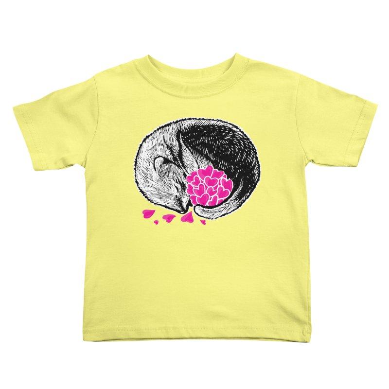 Ferret love Kids Toddler T-Shirt by barmalisiRTB