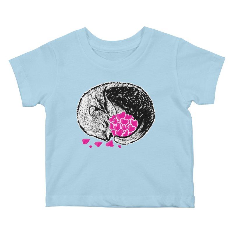 Ferret love Kids Baby T-Shirt by barmalisiRTB