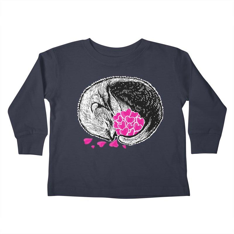 Ferret love Kids Toddler Longsleeve T-Shirt by barmalisiRTB
