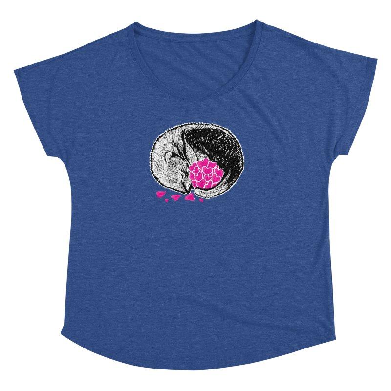Ferret love Women's Dolman Scoop Neck by barmalisiRTB