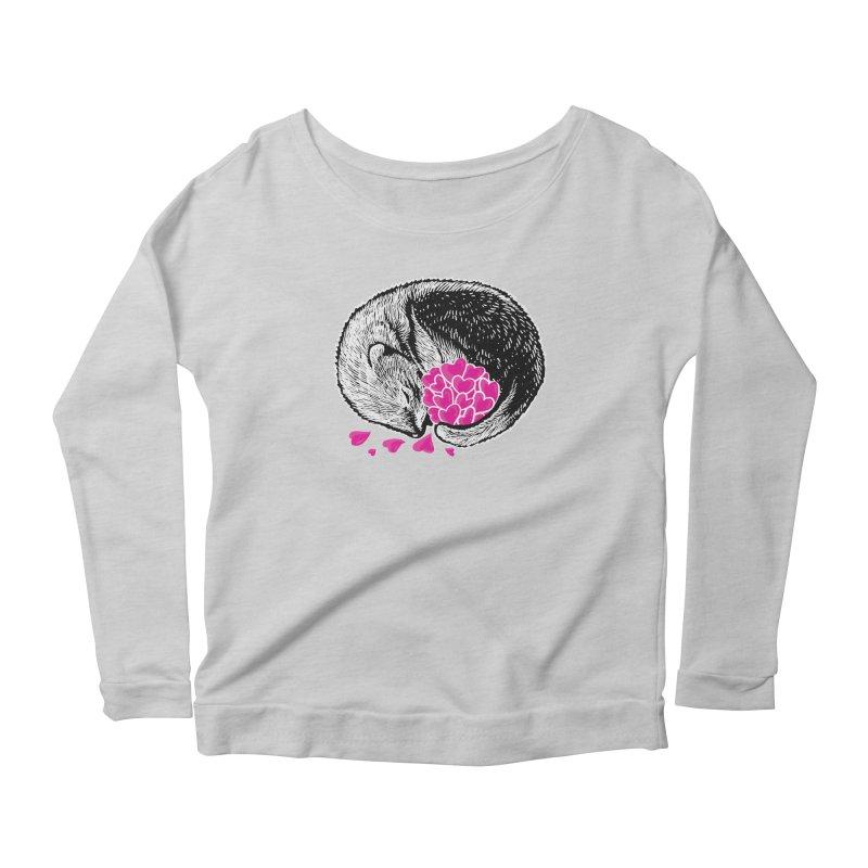 Ferret love Women's Scoop Neck Longsleeve T-Shirt by barmalisiRTB