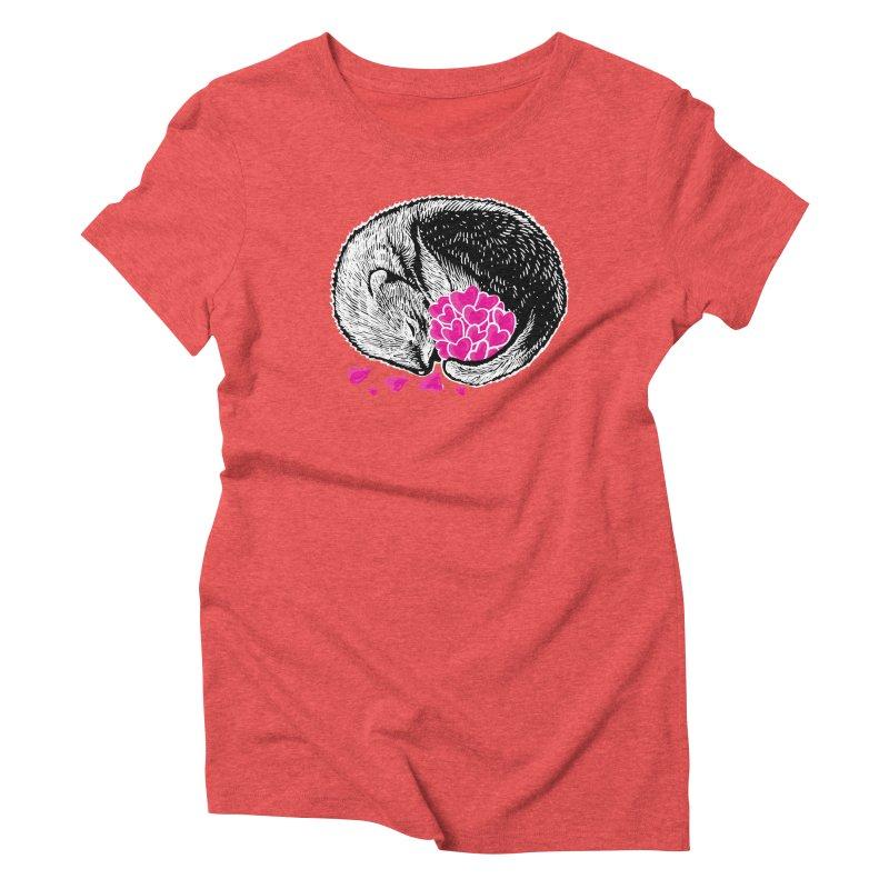 Ferret love Women's Triblend T-Shirt by barmalisiRTB
