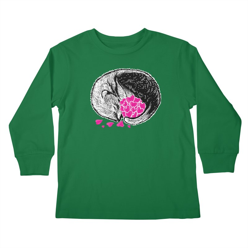 Ferret love Kids Longsleeve T-Shirt by barmalisiRTB