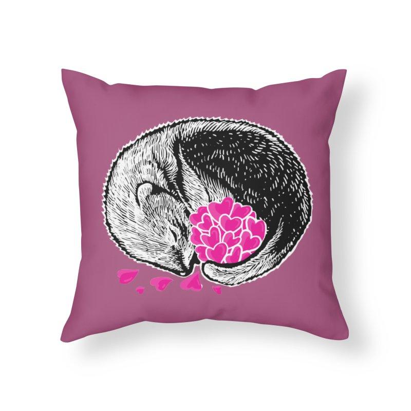 Ferret love Home Throw Pillow by barmalisiRTB