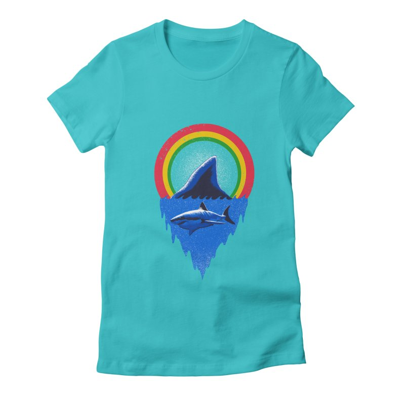 Save the shark Women's Fitted T-Shirt by barmalisiRTB