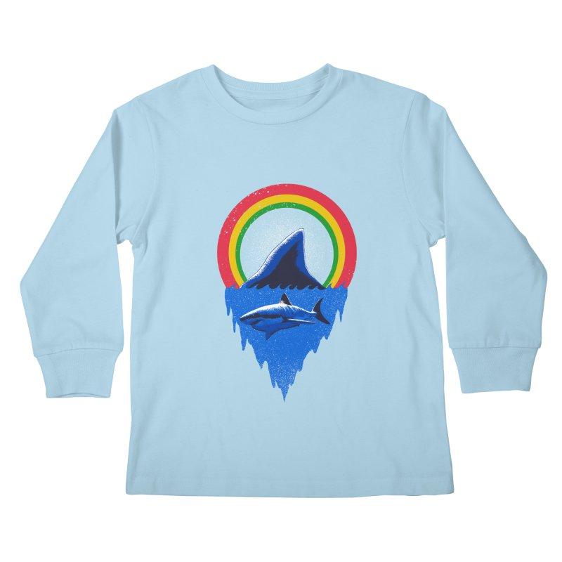 Save the shark Kids Longsleeve T-Shirt by barmalisiRTB