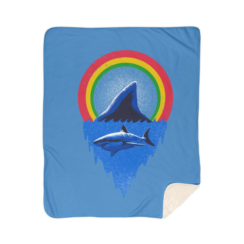 Save the shark Home Sherpa Blanket Blanket by barmalisiRTB