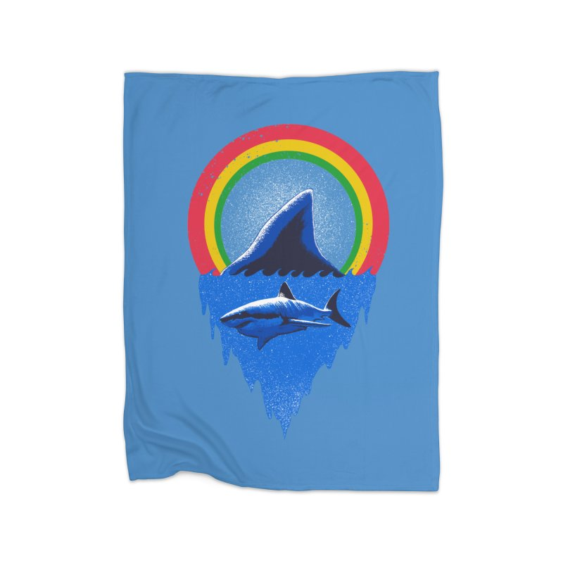 Save the shark Home Fleece Blanket Blanket by barmalisiRTB