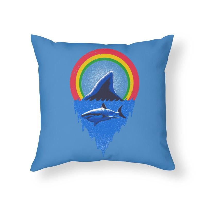 Save the shark Home Throw Pillow by barmalisiRTB