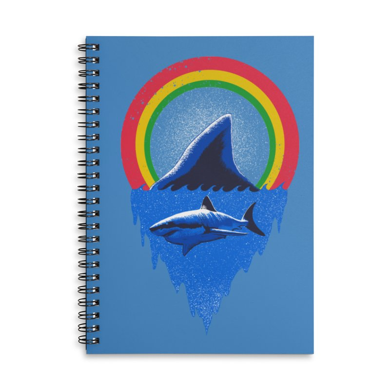 Save the shark Accessories Lined Spiral Notebook by barmalisiRTB